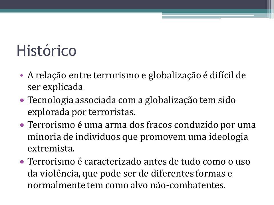 Histórico A relação entre terrorismo e globalização é difícil de ser explicada.
