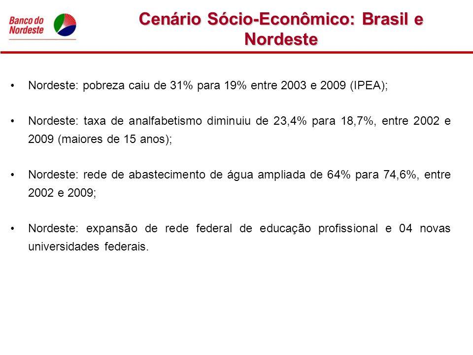 Cenário Sócio-Econômico: Brasil e Nordeste