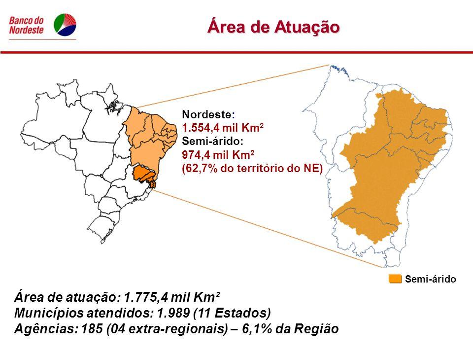 Área de Atuação Área de atuação: 1.775,4 mil Km²