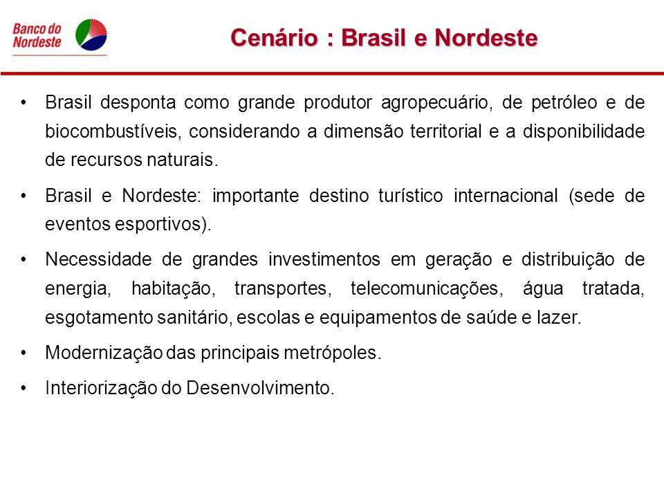 Cenário : Brasil e Nordeste