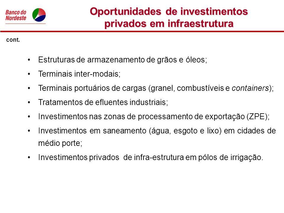 Oportunidades de investimentos privados em infraestrutura