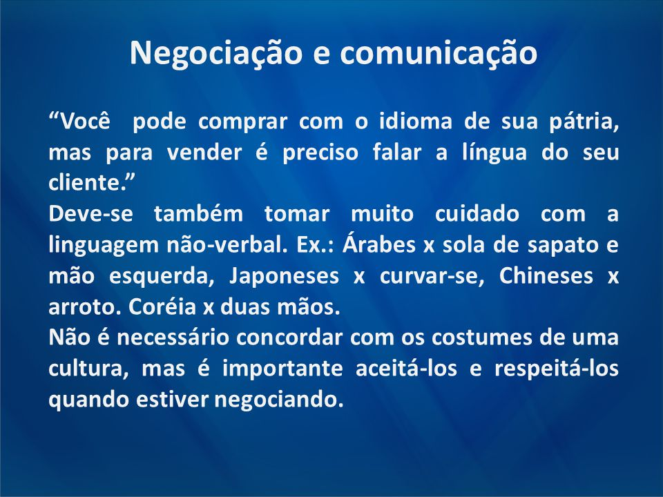 Negociação e comunicação