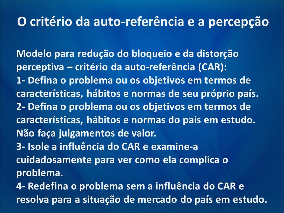 O critério da auto-referência e a percepção