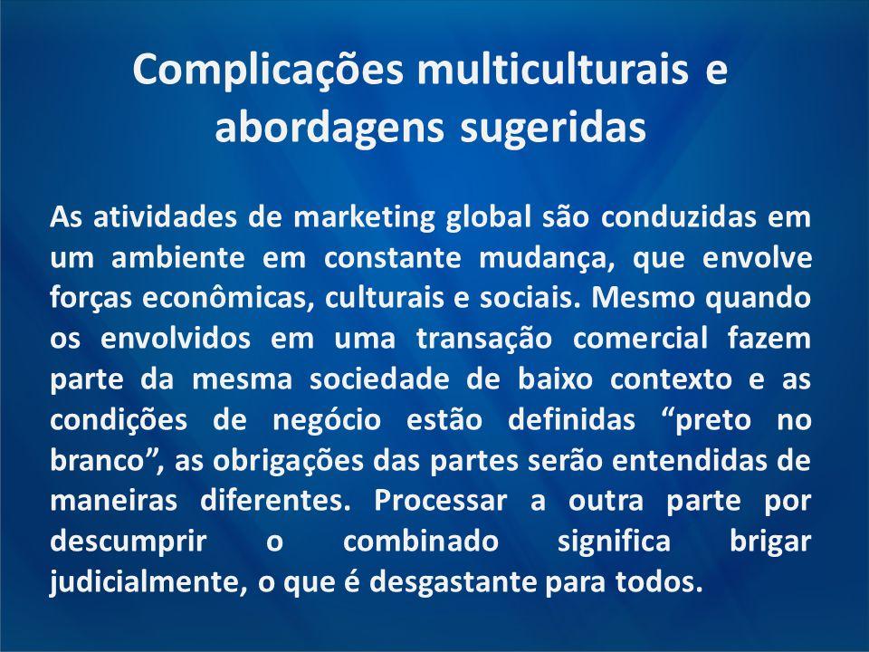 Complicações multiculturais e abordagens sugeridas