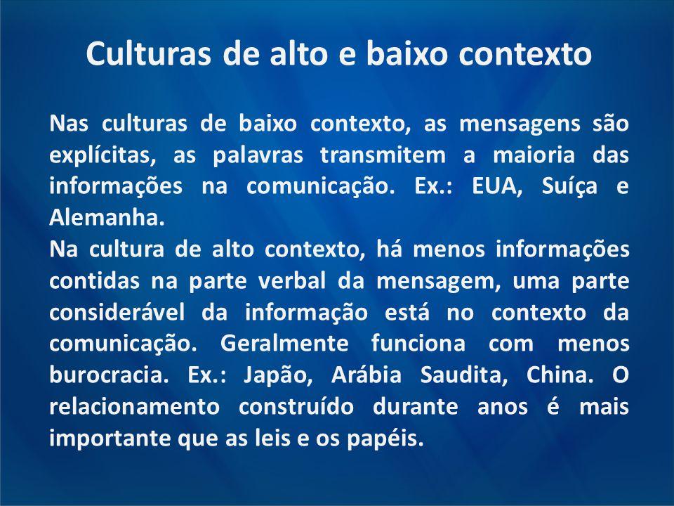 Culturas de alto e baixo contexto