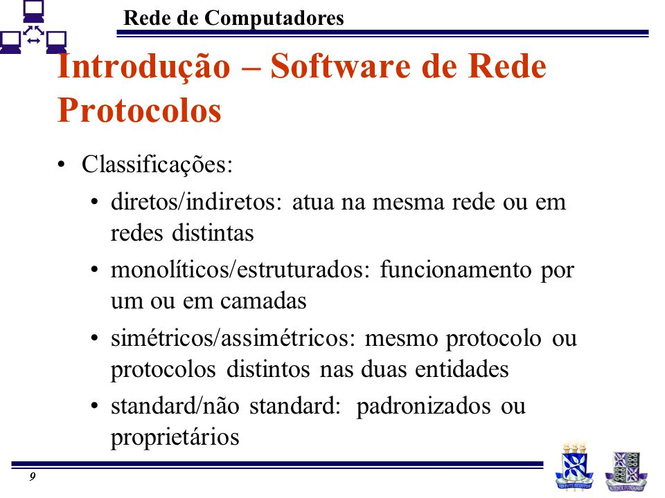 Introdução – Software de Rede Protocolos