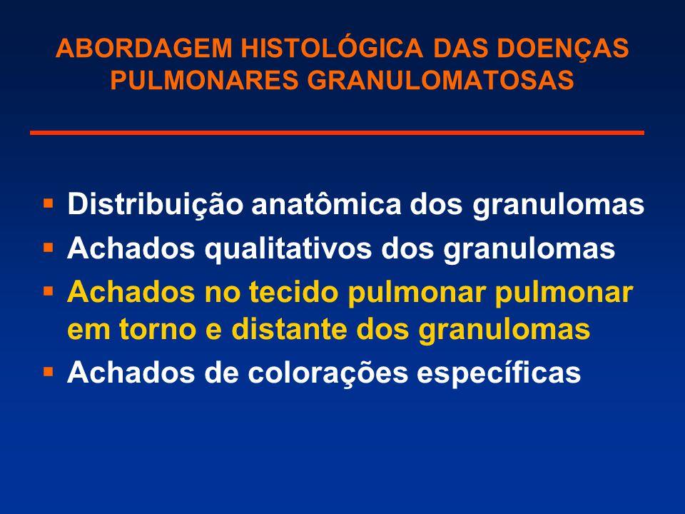 ABORDAGEM HISTOLÓGICA DAS DOENÇAS PULMONARES GRANULOMATOSAS