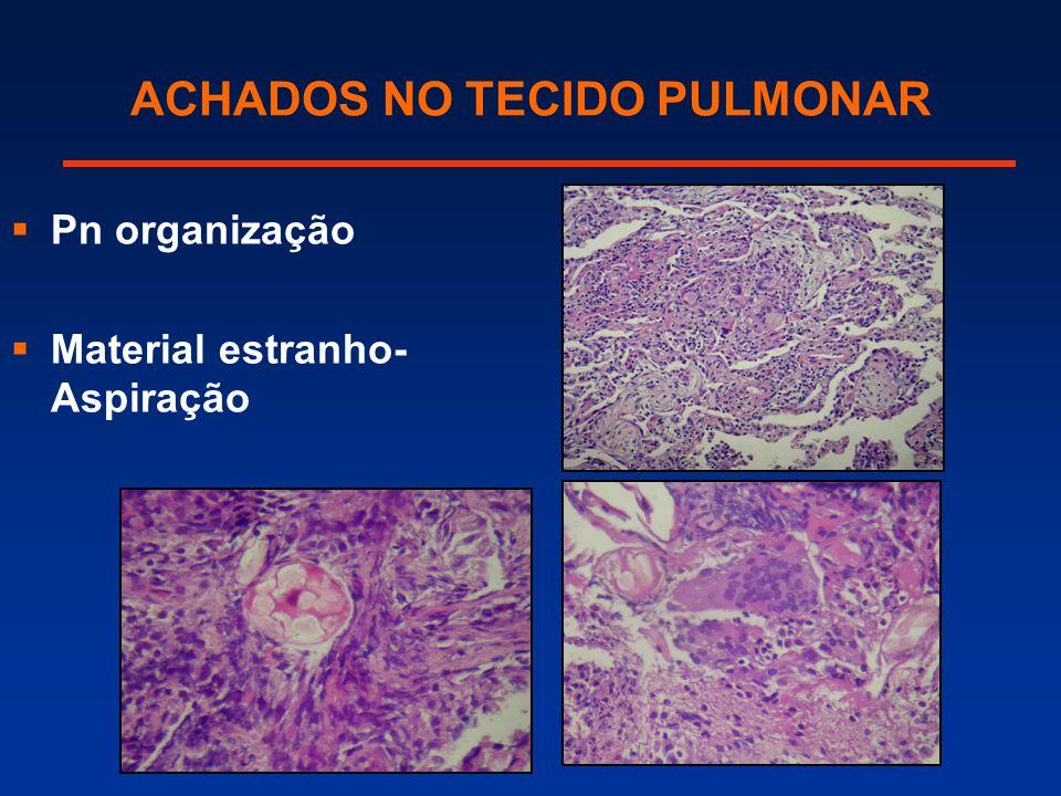 ACHADOS NO TECIDO PULMONAR