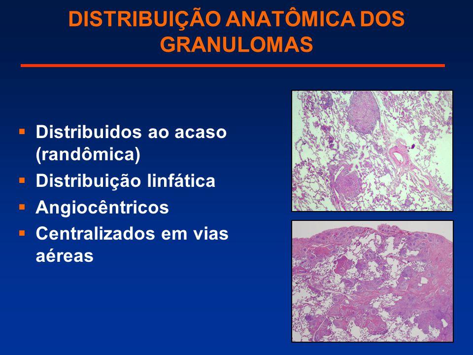 DISTRIBUIÇÃO ANATÔMICA DOS GRANULOMAS