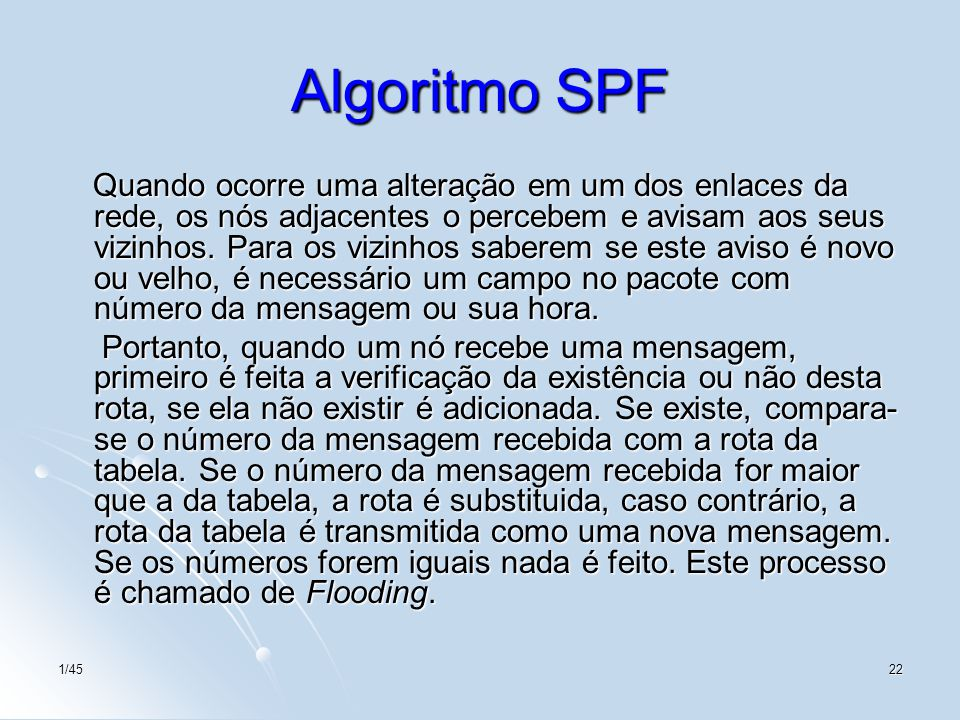 Algoritmo SPF