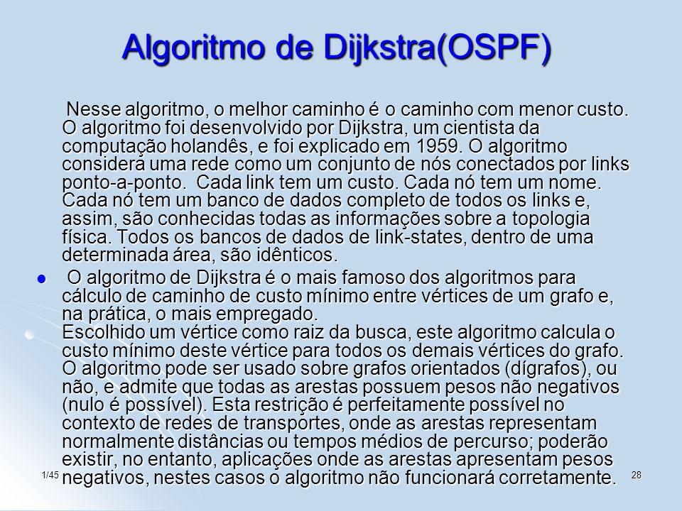 Algoritmo de Dijkstra(OSPF)