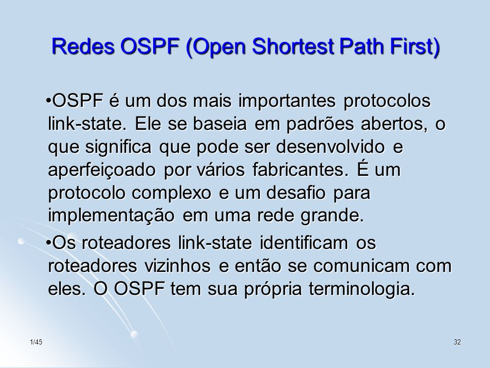 Redes OSPF (Open Shortest Path First)