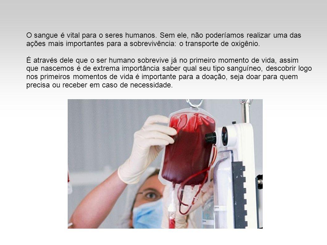 O sangue é vital para o seres humanos