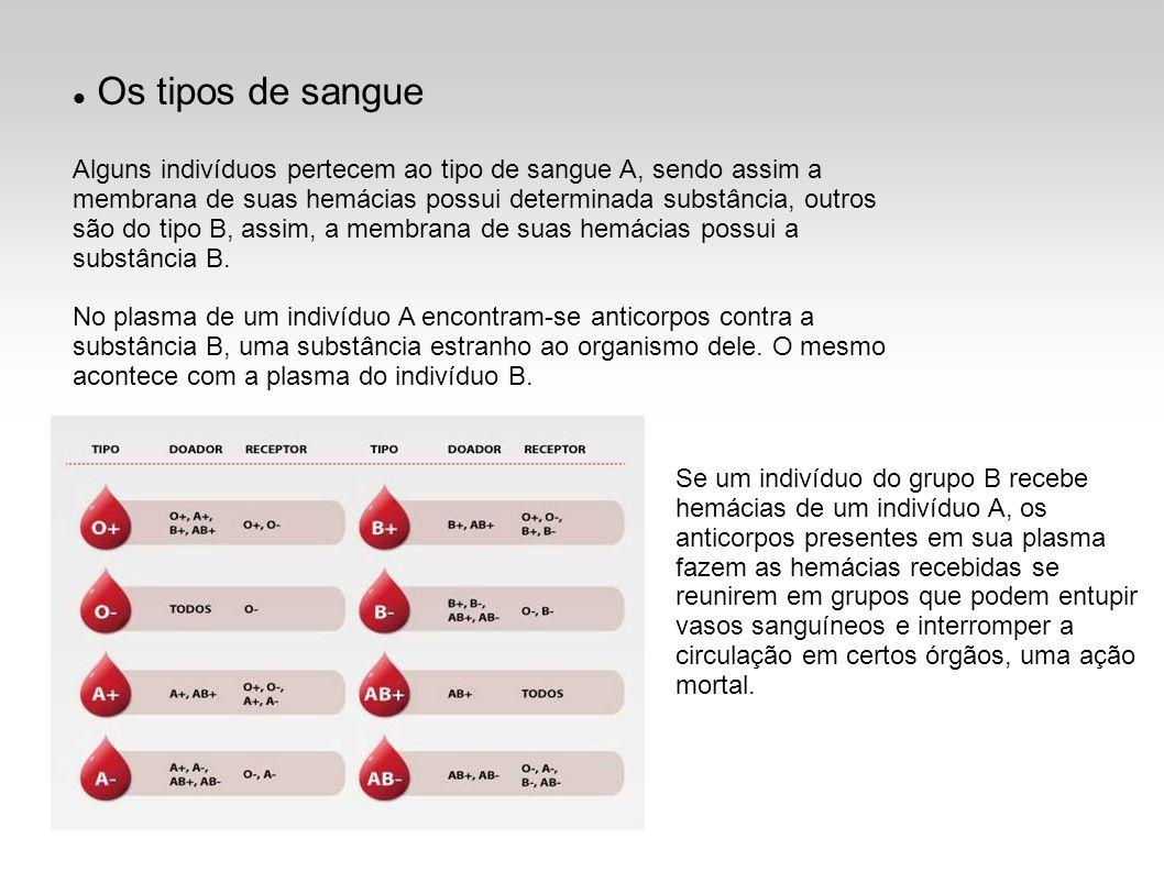 Os tipos de sangue
