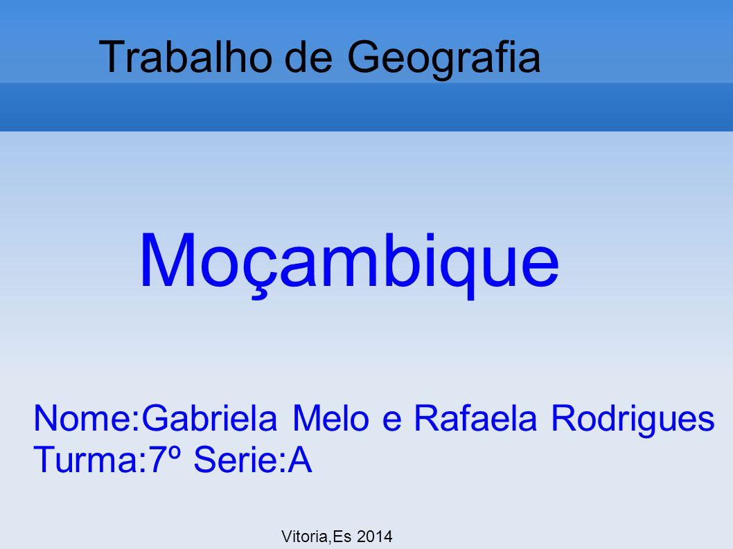 Moçambique Trabalho de Geografia