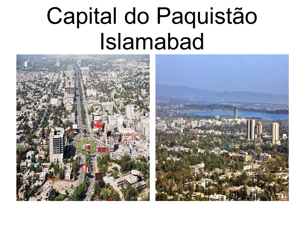 Capital do Paquistão Islamabad