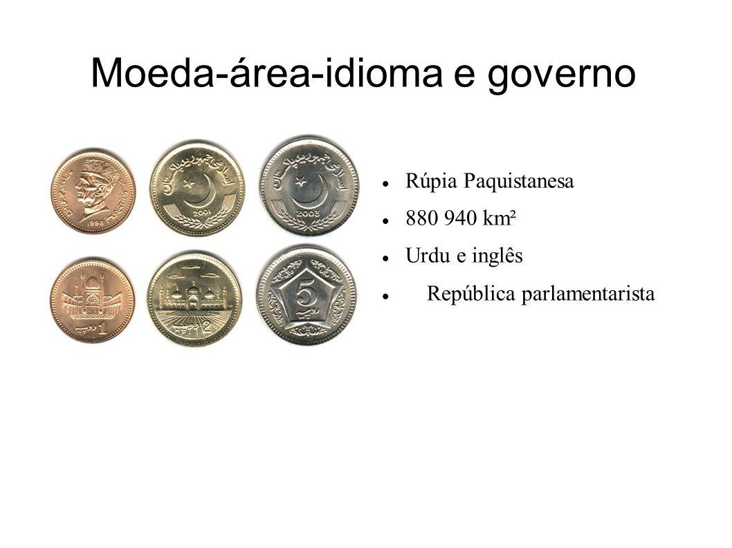 Moeda-área-idioma e governo