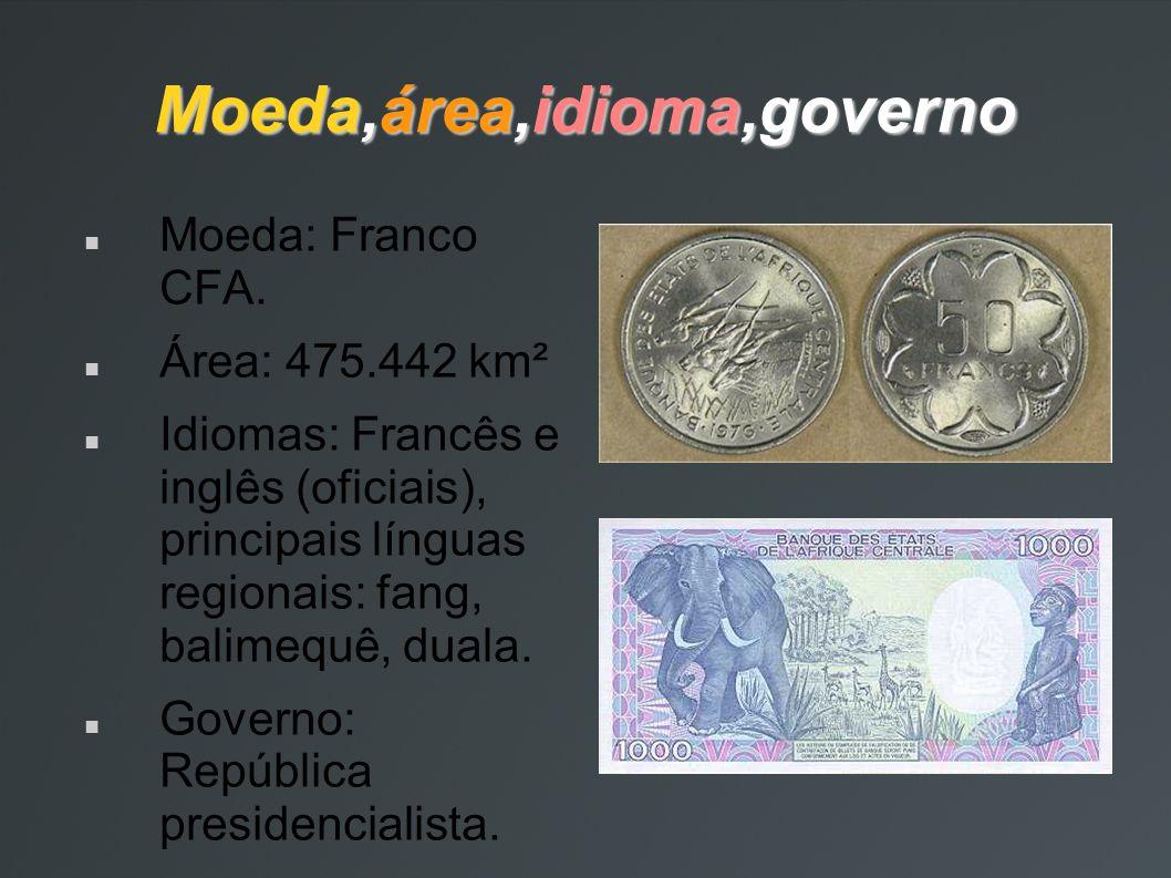 Moeda,área,idioma,governo