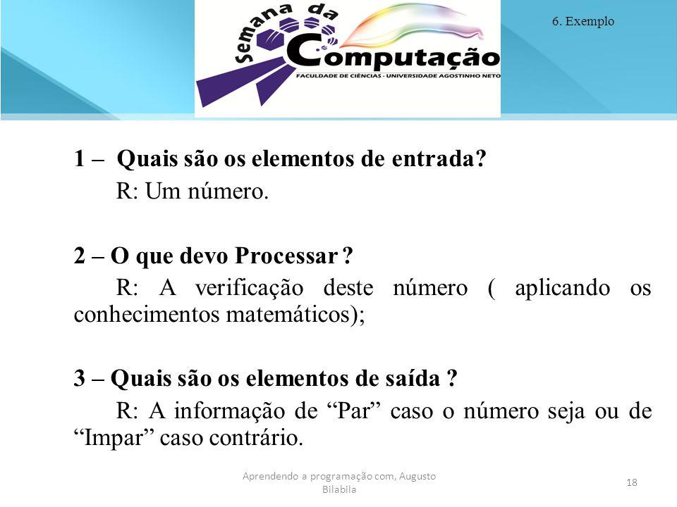 Aprendendo a programação com, Augusto Bilabila