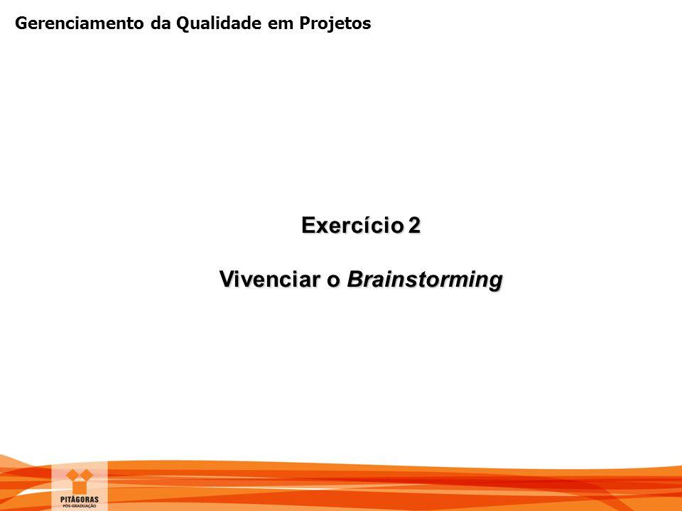 Vivenciar o Brainstorming