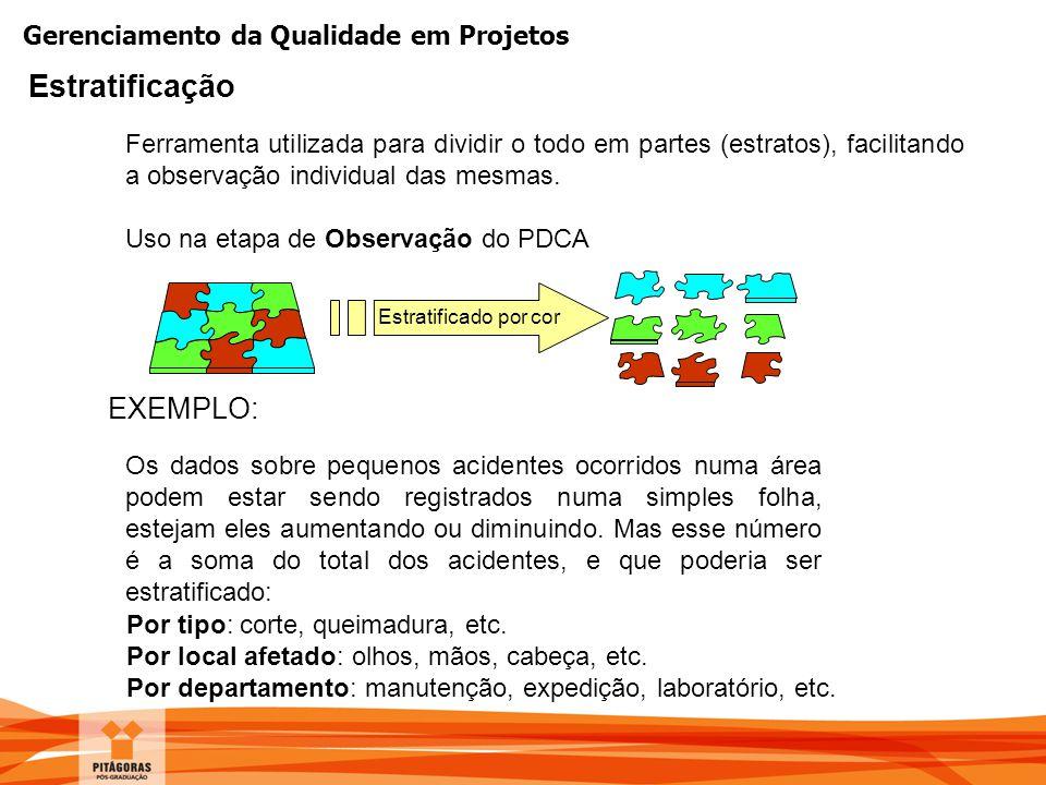 Estratificação EXEMPLO: