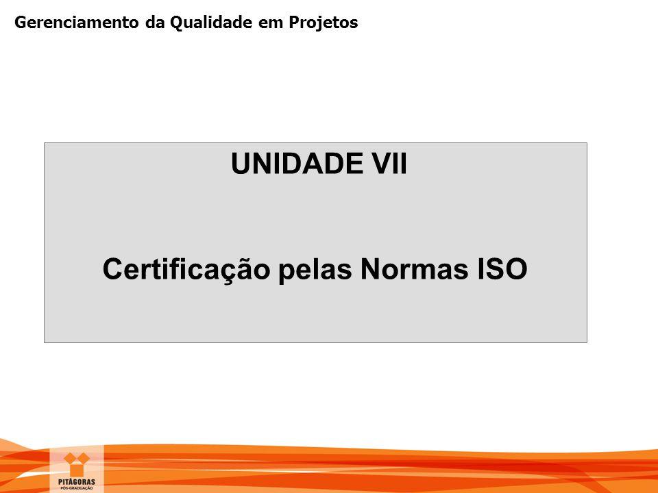 Certificação pelas Normas ISO