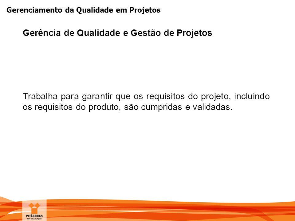 Gerência de Qualidade e Gestão de Projetos