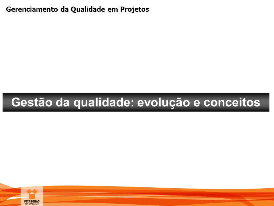 Gestão da qualidade: evolução e conceitos