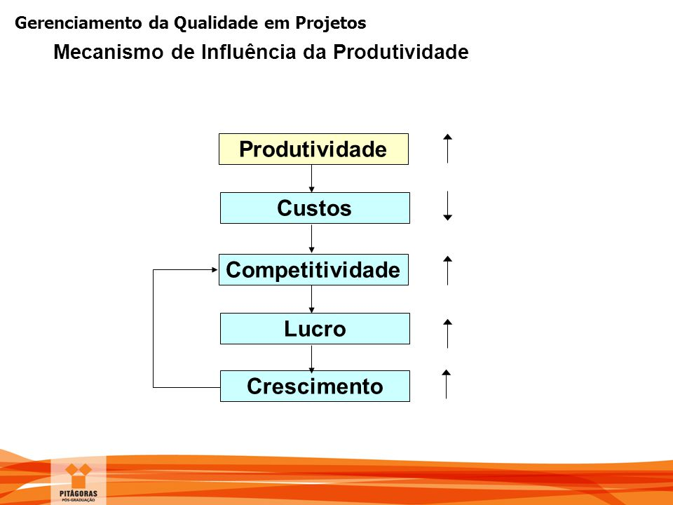 Produtividade Custos Competitividade Lucro Crescimento
