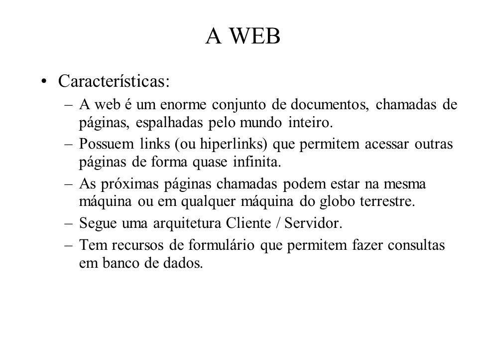 A WEB Características: