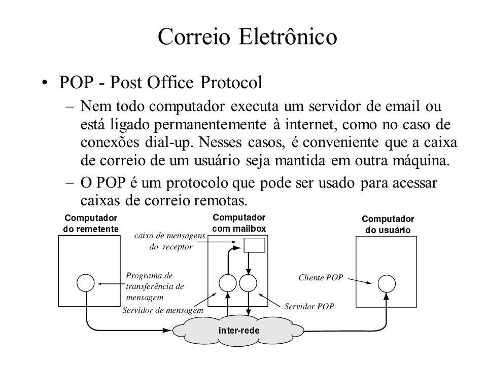 Correio Eletrônico POP - Post Office Protocol