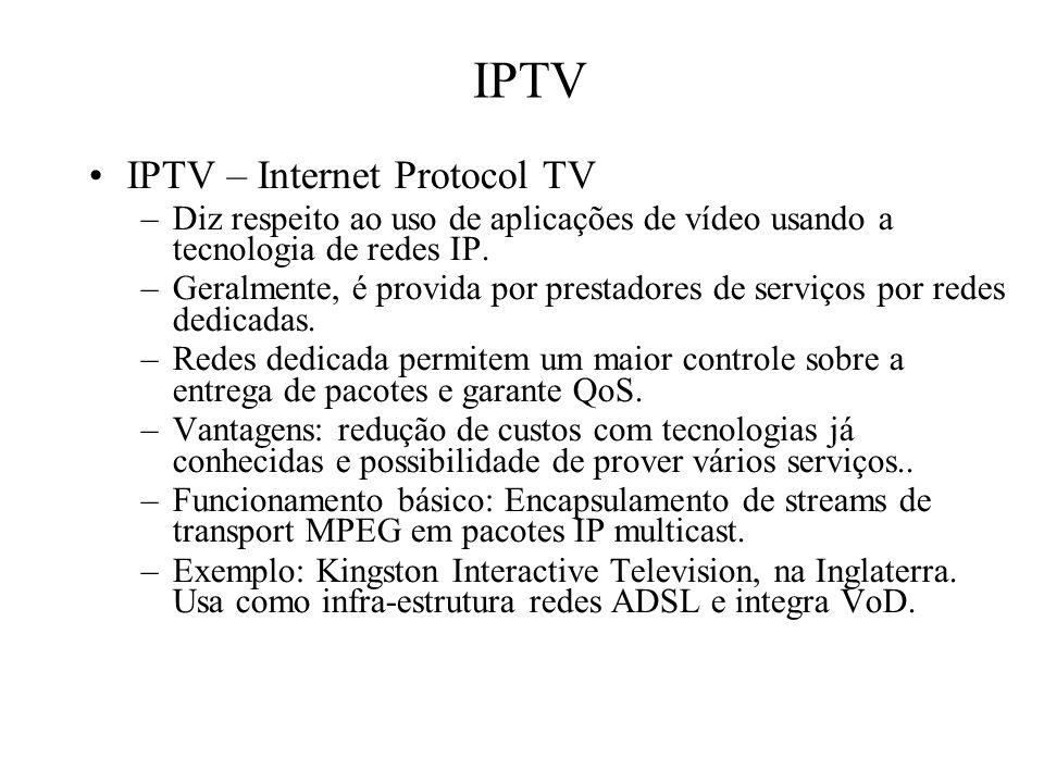 IPTV IPTV – Internet Protocol TV
