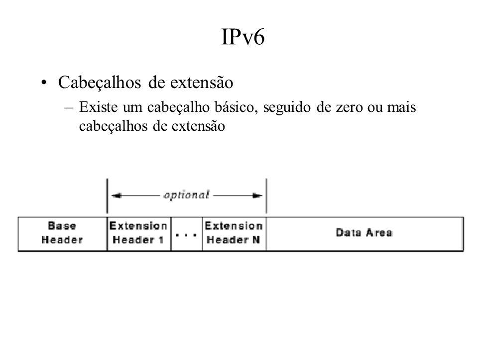 IPv6 Cabeçalhos de extensão