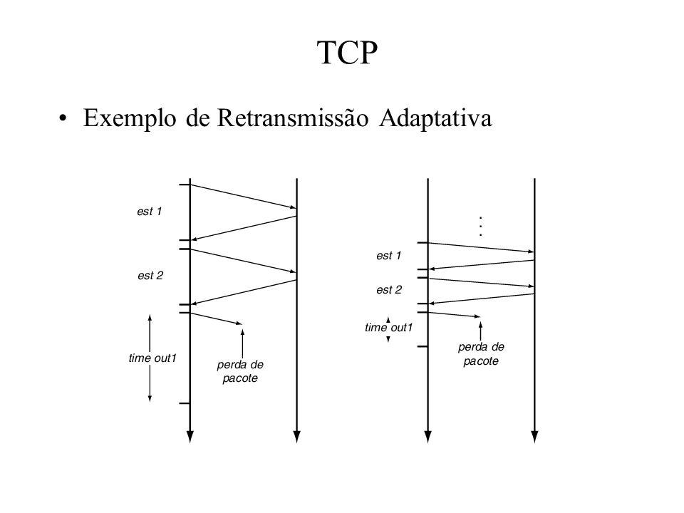 TCP Exemplo de Retransmissão Adaptativa