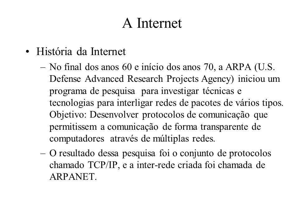 A Internet História da Internet