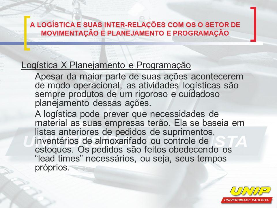 Logística X Planejamento e Programação