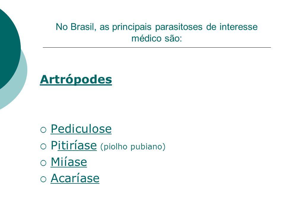No Brasil, as principais parasitoses de interesse médico são: