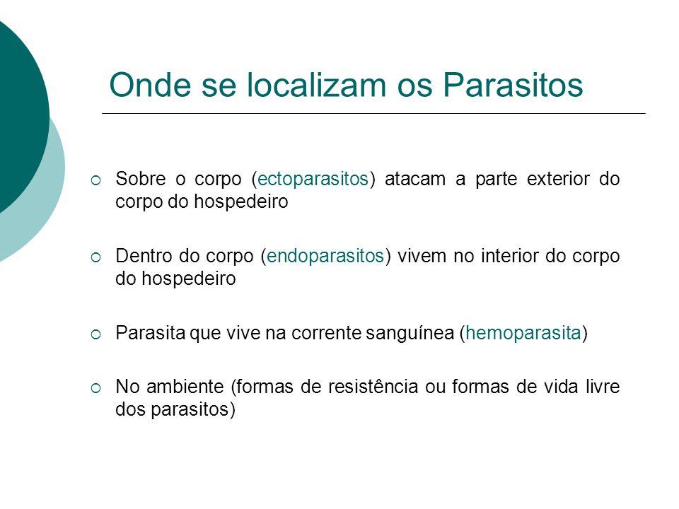 Onde se localizam os Parasitos