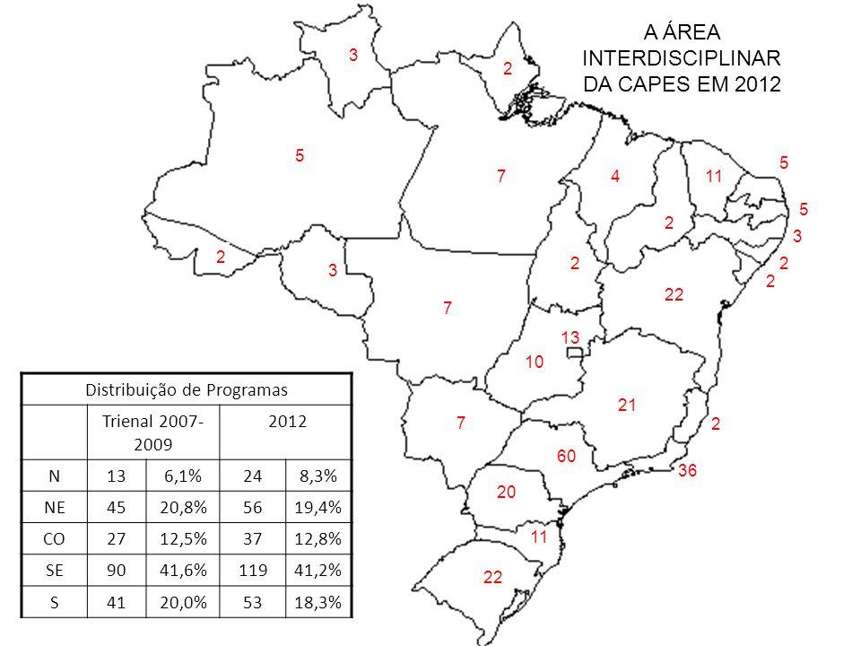 A ÁREA INTERDISCIPLINAR DA CAPES EM 2012