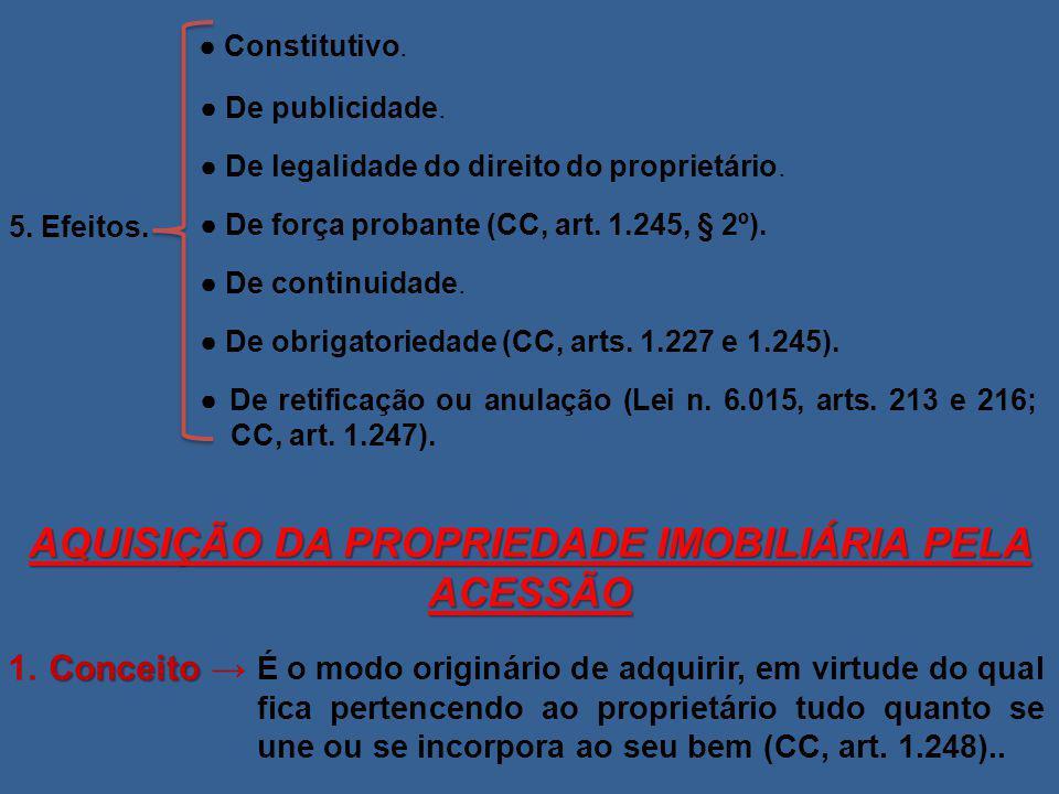 AQUISIÇÃO DA PROPRIEDADE IMOBILIÁRIA PELA ACESSÃO