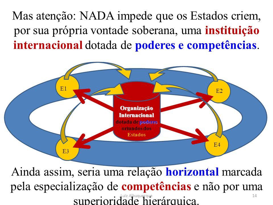 Organização Internacional dotada de poderes oriundos dos Estados