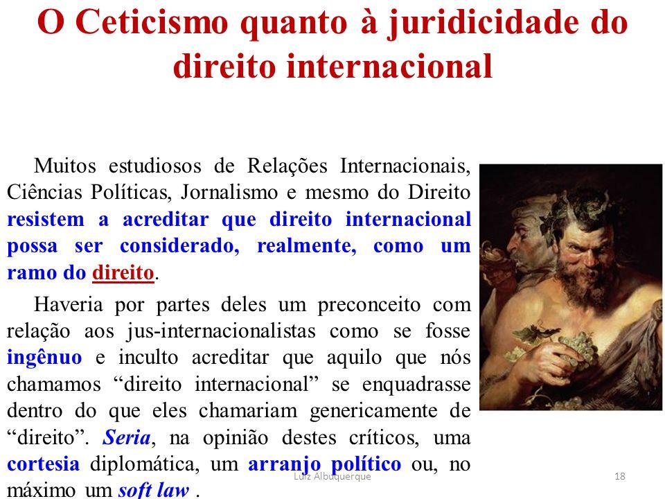 O Ceticismo quanto à juridicidade do direito internacional