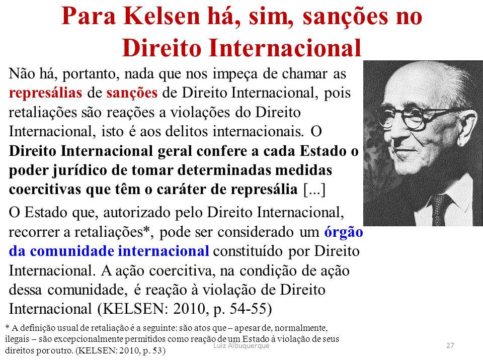 Para Kelsen há, sim, sanções no Direito Internacional