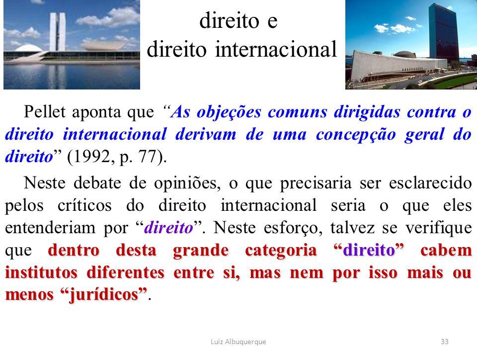 direito e direito internacional