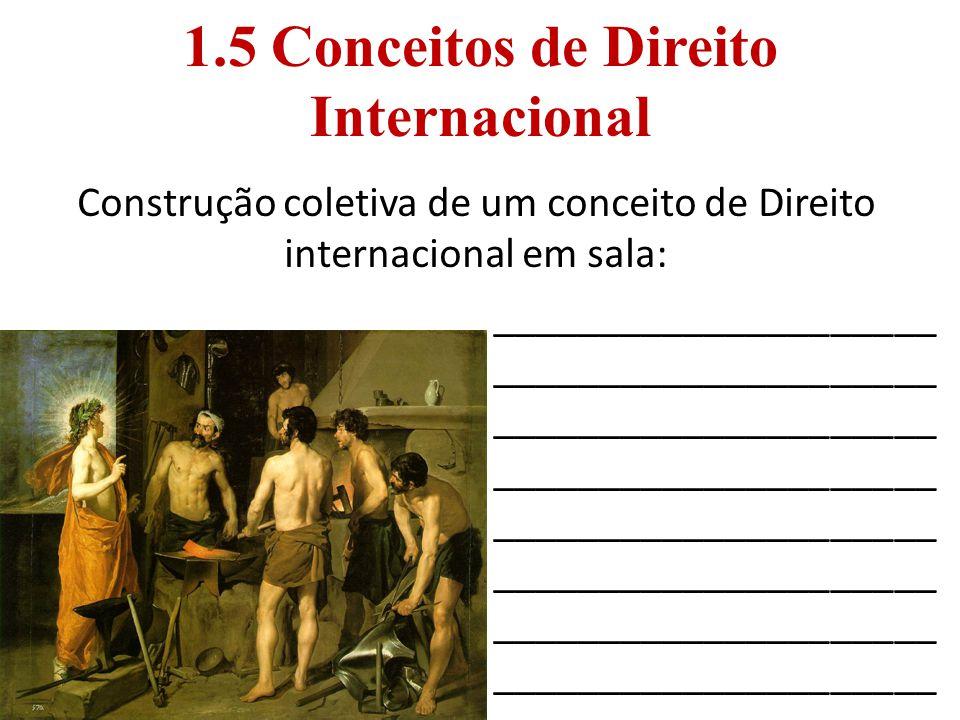 1.5 Conceitos de Direito Internacional