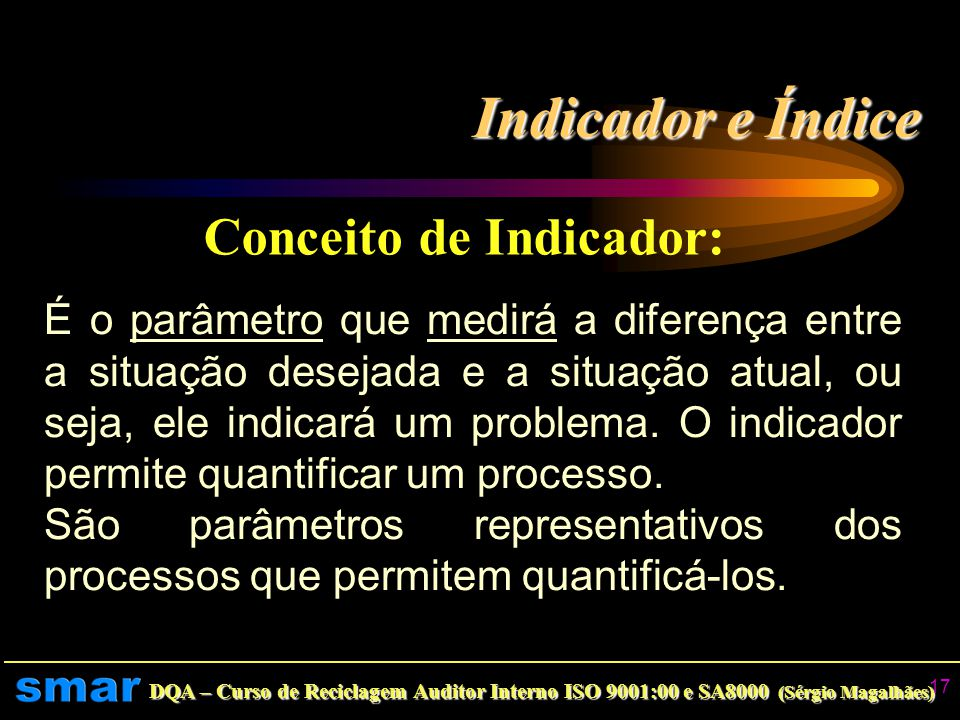 Conceito de Indicador: