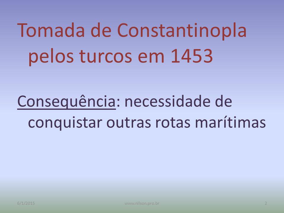 Tomada de Constantinopla pelos turcos em 1453