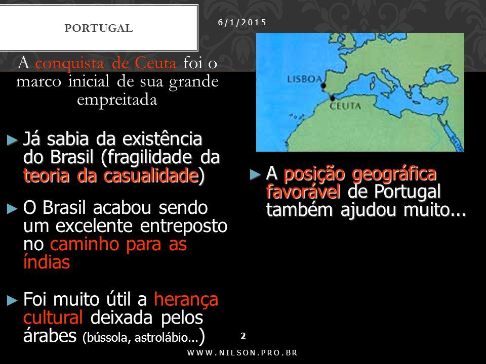 A conquista de Ceuta foi o marco inicial de sua grande empreitada