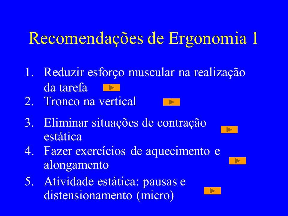 Recomendações de Ergonomia 1