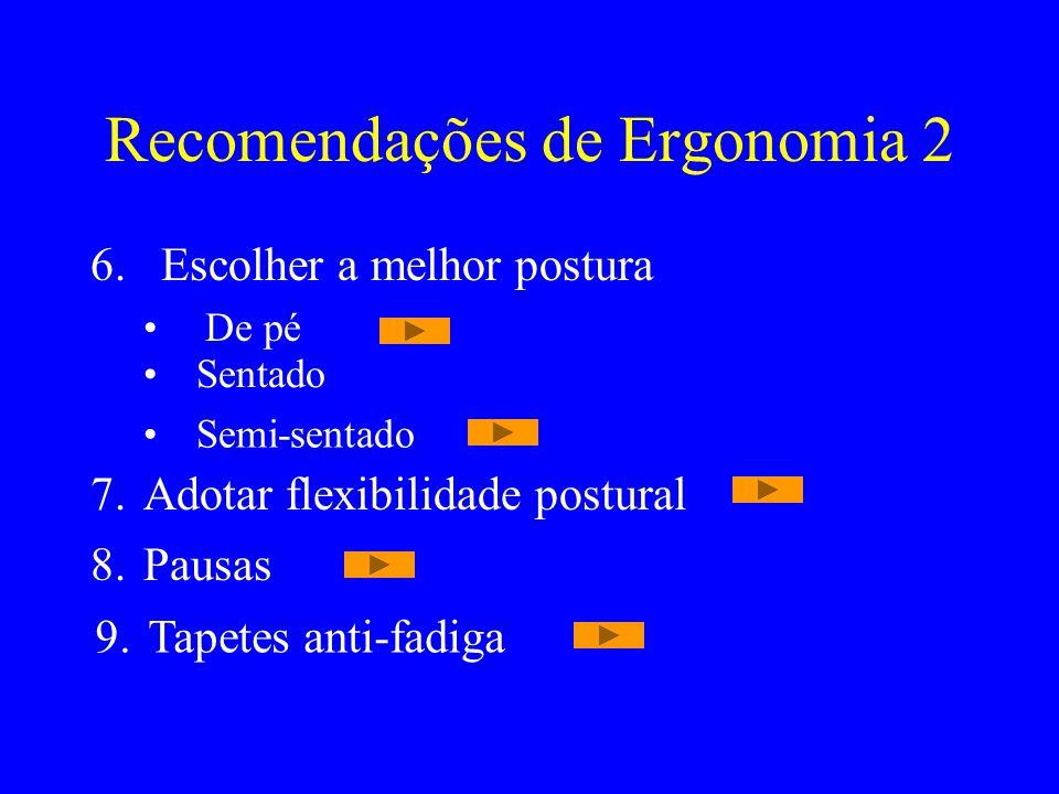 Recomendações de Ergonomia 2